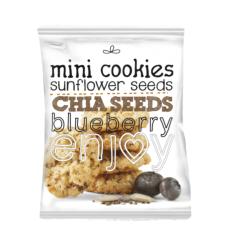 Mini haferkekse sonnenblumenkernen, chia und blaubeere